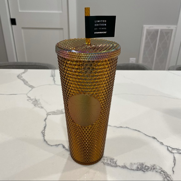 SALE - Starbucks 50th Year Copper Gold Studded Cup